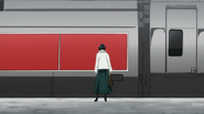 Fubuki ntering a train