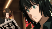 Fubuki reads the newspaper