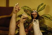 Noggin Oobi Checkup! Grampu Dr. Rose Scene Hand Puppets Nickelodeon