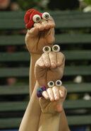 Oobi Kako Uma Noggin Nick Jr TV Show Series Hand Puppet Characters