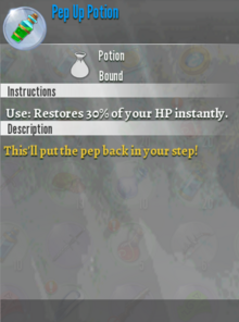 Pep Up Potion