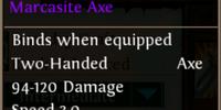 Reinforced Heavy Marcasite Axe