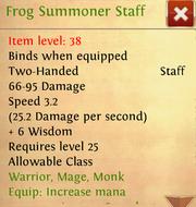 Frog Summoner Staff desc