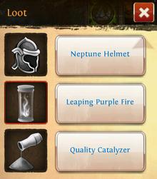 Leaping purple fire loot