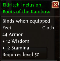 Eldritch inclusion boots of the rainbow
