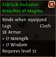 Eldritch inclusion breeches of magma