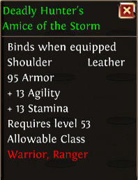 Deadly hunters amice of the storm