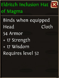 Eldritch inclusion hat of magma