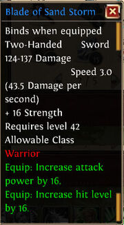 Blade of Sand Storm