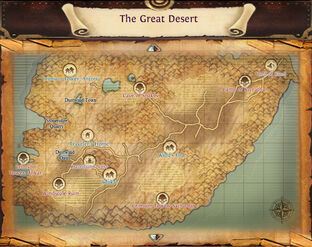 Map the great desert labels