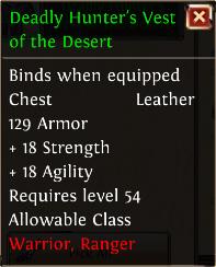 Deadly hunters vest of the desert