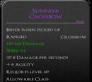 Sunsaya Crossbow