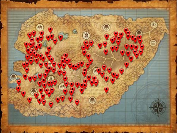 Map ore desert