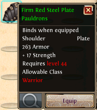 Firm Red Steel Plate Pauldrons