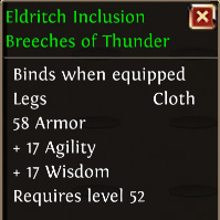 Eldritch inclusion breeches of thunder