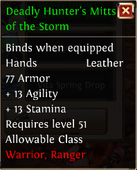 Deadly hunters mitts of the storm