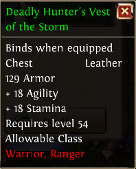 Deadly hunters vest of the storm