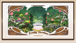 Pretty garden frame