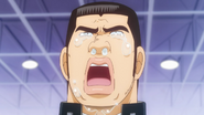 Takeo crying on his graduation