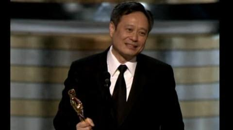 "Ang Lee winning the Oscar® for Directing ""Brokeback Mountain"""