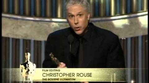 """The Bourne Ultimatum"" winning a Film Editing Oscar®"