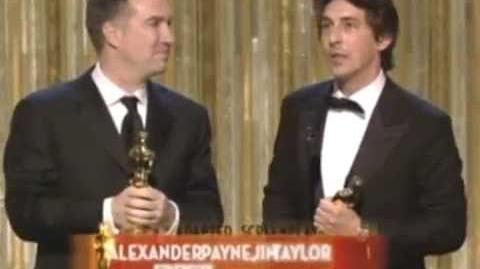 Sideways Wins Adapted Screenplay 2005 Oscars