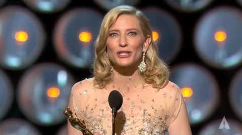 "Cate Blanchett winning Best Actress for ""Blue Jasmine"""