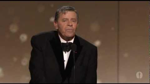 Jerry Lewis receives the Jean Hersholt Humanitarian Award