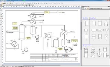 Eine mit RI-CAD™ gezeichnete Destillationsapparatur