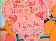 Valentine card from Honey Bear