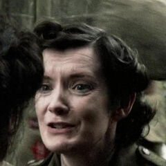 <b>Army Nurse</b>. Played by Clare Yuille.