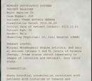 Project Walrider Patient Status Report for Frank Manera