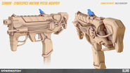 Sombra cyberspace machine pistol highpoly