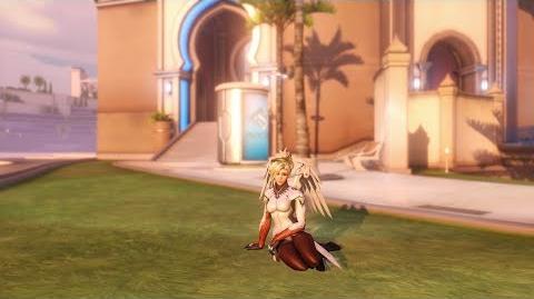 Overwatch Mercy emote - Relax