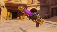 Pharah possessed golden rocketlauncher