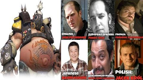 The Many Faces Of Roadhog Voice Lines Quotes - Overwatch Voice Actors