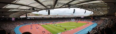 Hampden Park (panorama), Commonwealth Games, Glasgow 2014