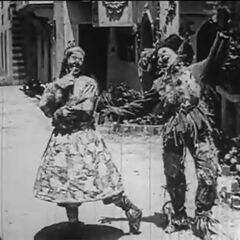 The Scarecrow and Patchwork Girl meet.