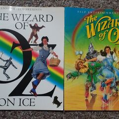 <b>Rare White Variant Program On The Left / Official Release Green Program On The Right From The Wizard Of Oz: On Ice</b>