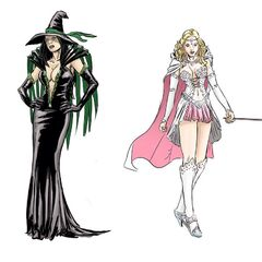 Lynessa the wicked witch of the east and Glinda Southron