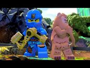 Lego Dimensions Jay from Ninjago with the Cowardly Lion