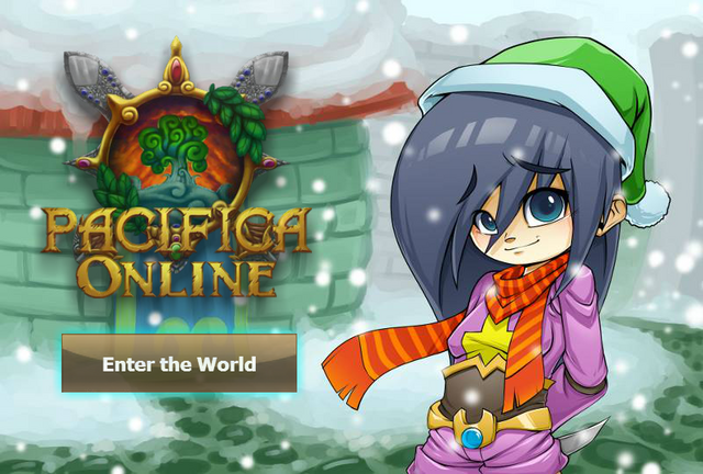 File:Pacifica Online - Login Screen - Christmas 2013 Bandit.png