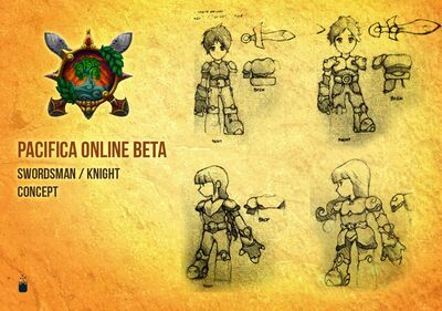 Pacifica Online-Swordsman-Knight Concept Art