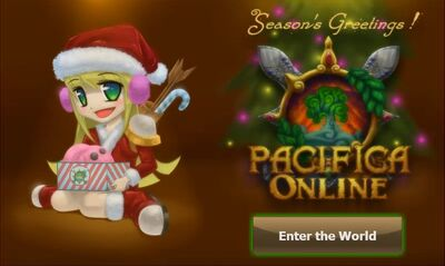Pacifica Online-Login Screen Christmas 2011