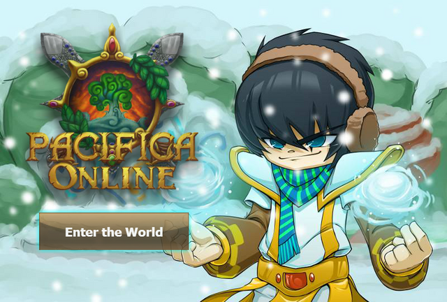 File:Pacifica Online - Login Screen - Christmas 2013 Cleric.png