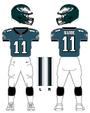 Eagles color uniform