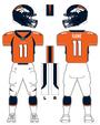 Broncos color uniform