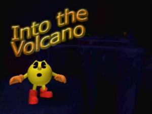 Into the Volcano Title Screen