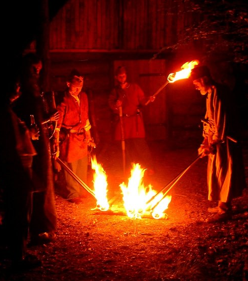 Odinist fire rite