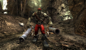 Red Bossman in Stone Pit